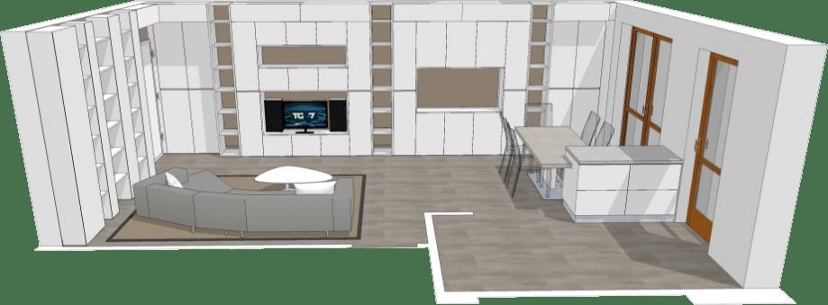 Soggiorno Moderno di Design in Monza Brianza | JFD Architetto Monza