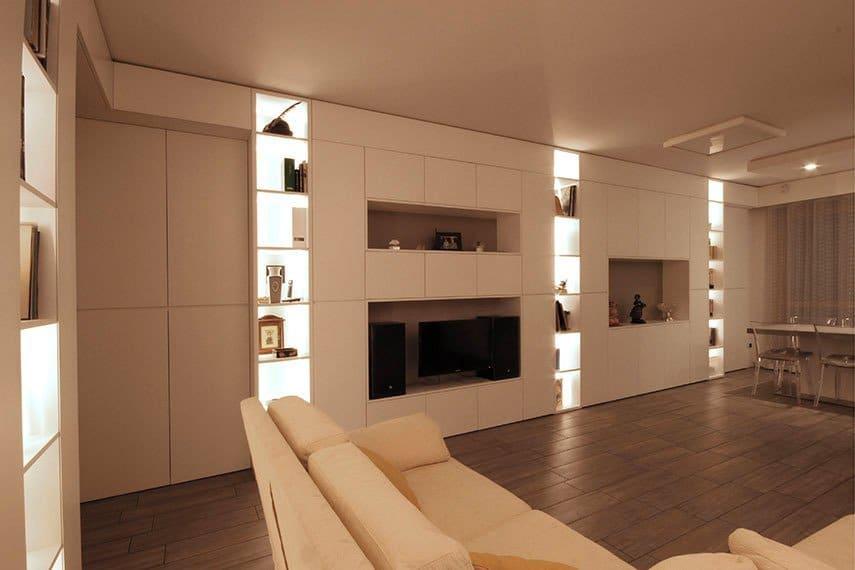 13-libreria-luci-led-salotto-cucina-milano