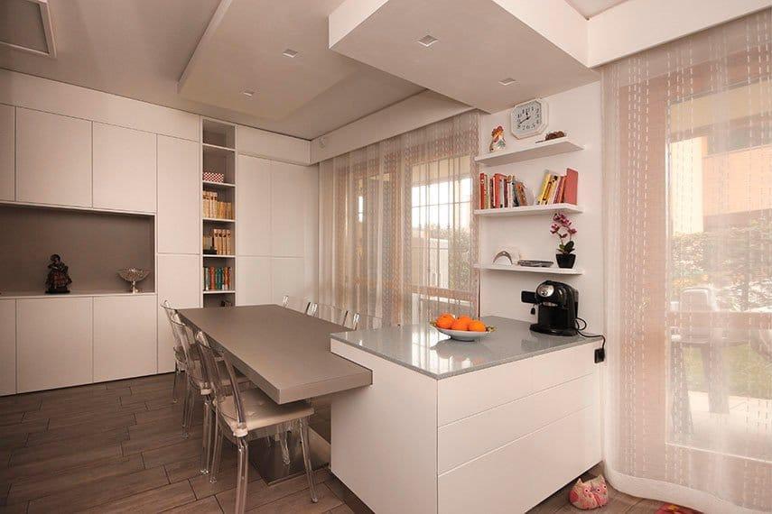 19-cucina-isola-illuminazione-faretti-cartongesso-milano