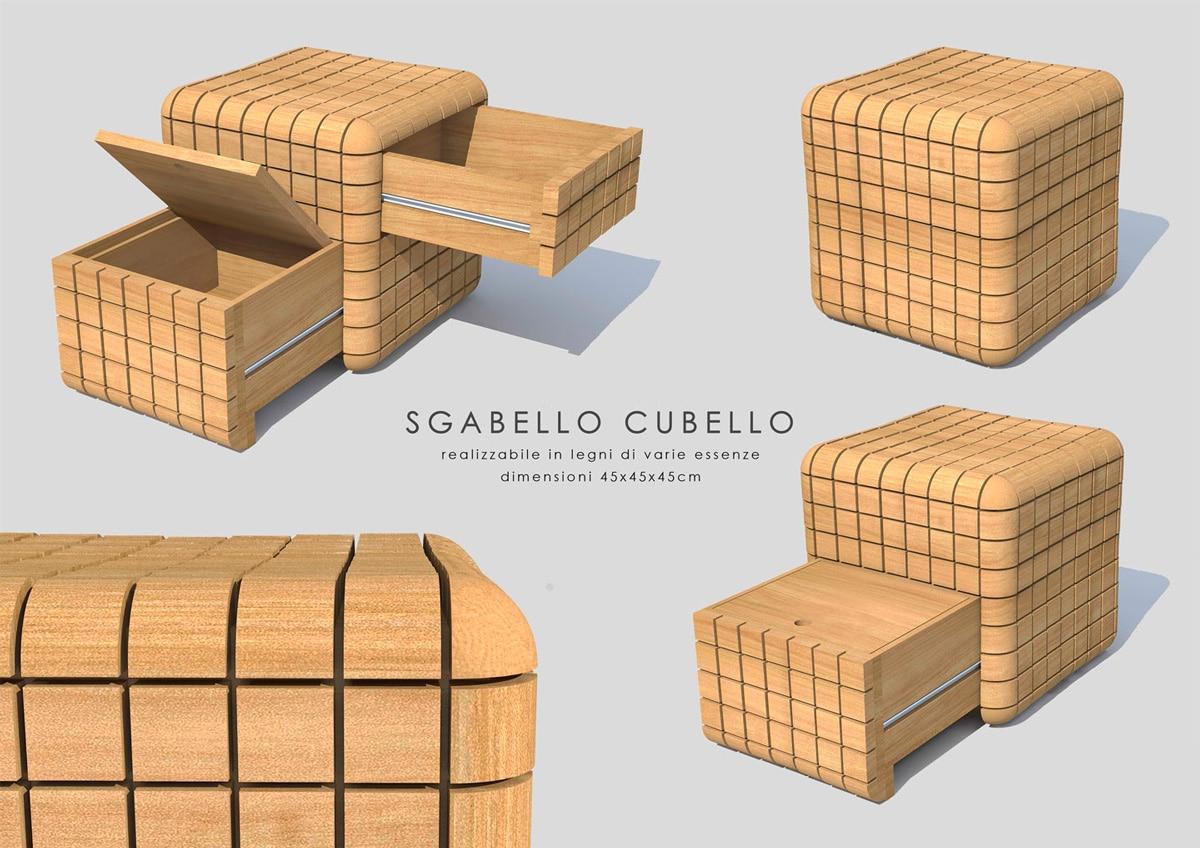 Sgabello Cubello juri favilli design