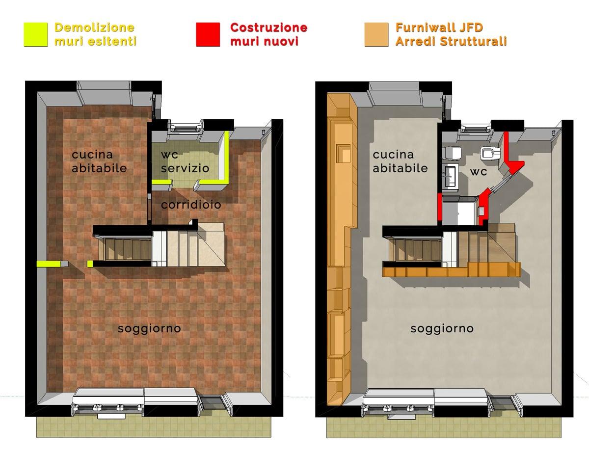 Arredamento Moderno su Misura per una Villetta su due piani | Juri Favilli Design