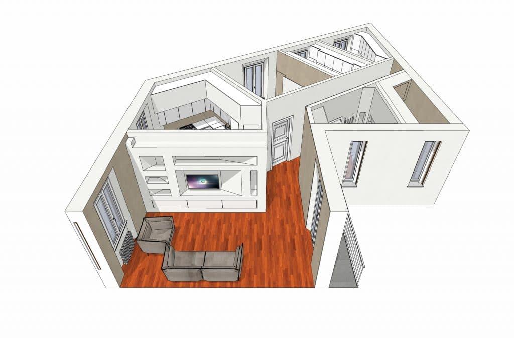 Ristrutturazione Completa Casa Interior Design su Misura | JFD Milano