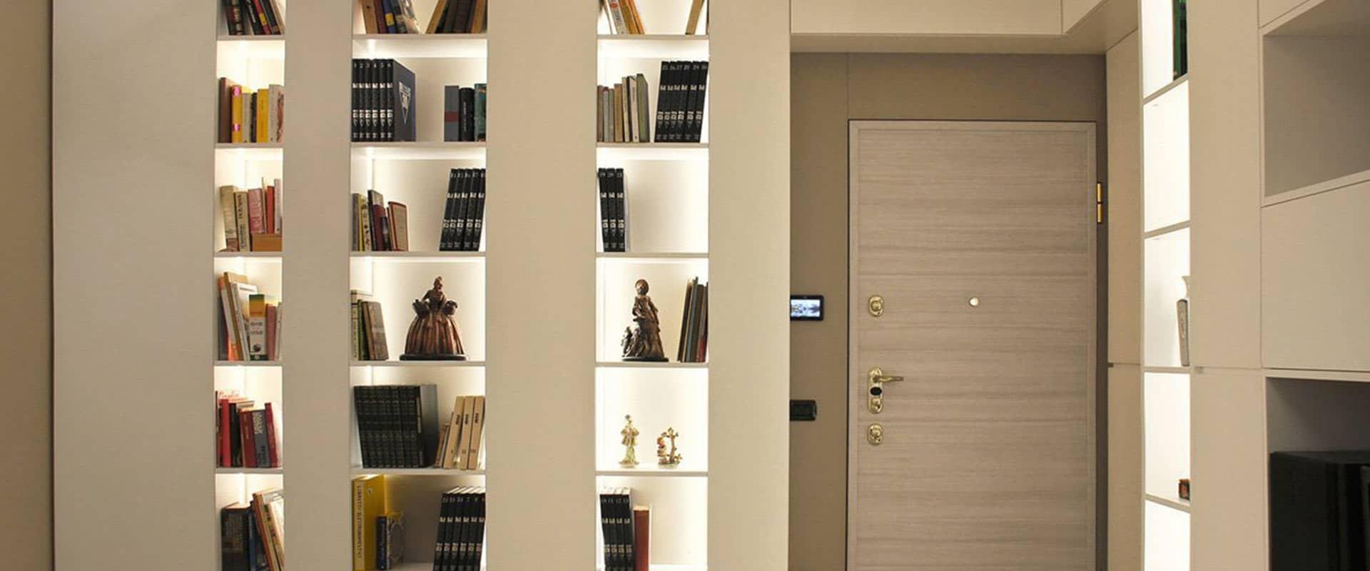Parete Attrezzata con Libreria Moderna su Misura | JDF FurniWall