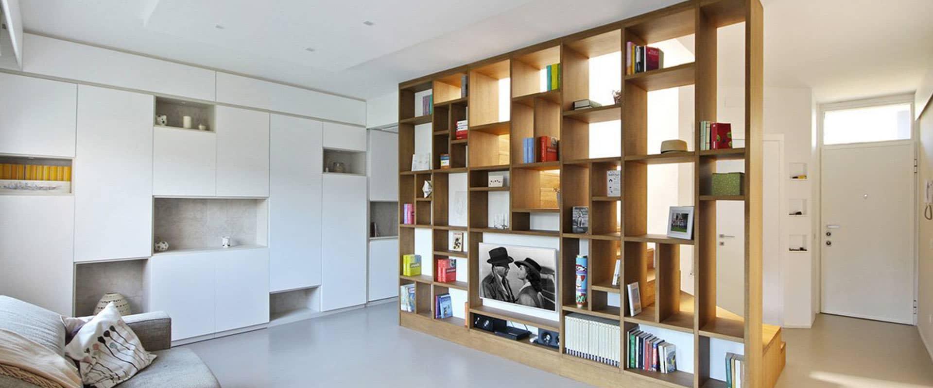 Pareti Attrezzate e Librerie Moderne in Legno | JDF FurniWall