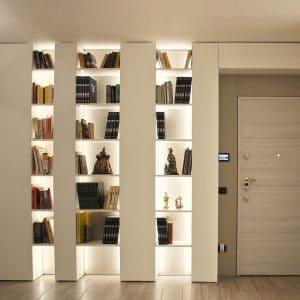 Soggiorno Moderno arredato con pareti attrezzate Sartoriali
